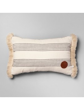 Throw Pillow Striped   Gray/Cream   Hearth & Hand™ With Magnolia by Hearth & Hand™ With Magnolia