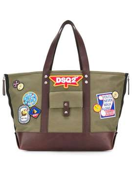 Dsquared2 Dsq2 Patch Tote Baghome Men Dsquared2 Bags Tote Bagsstriped Cropped Chinos Running Sneakersstriped T Shirt Dsq2 Patch Tote Bag by Dsquared2