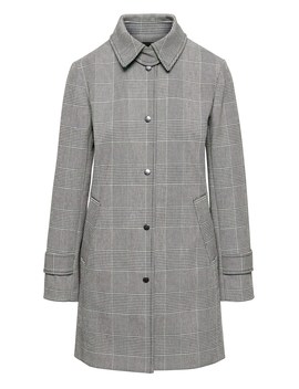 Petite Italian Bonded Plaid Car Coat by Banana Repbulic