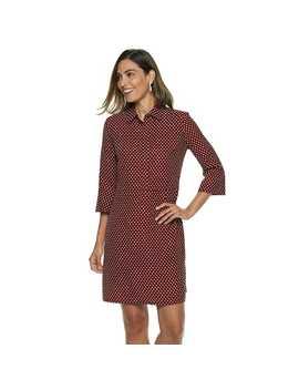 Women's Dana Buchman Hidden Placket Shirt Dress by Kohl's