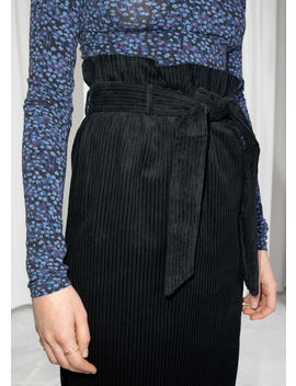 Belted Corduroy Skirt by & Other Stories
