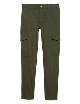 Br X Kevin Love | Athletic Tapered Brushed Twill Cargo Pant by Banana Repbulic