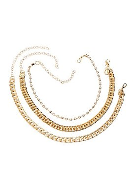 Chainlink Necklaces   3 Pack by Charlotte Russe