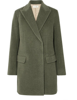 Mewey Wool Blend Twill Coat by The Row