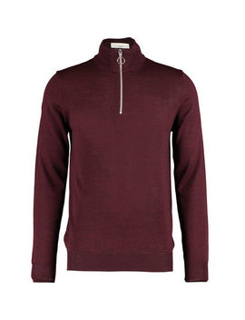 Dark Red Knitted Pullover by Minimum