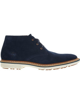 Navy Suede Chukka Boots by Timberland