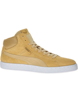 Camel Beige High Top Trainers by Puma