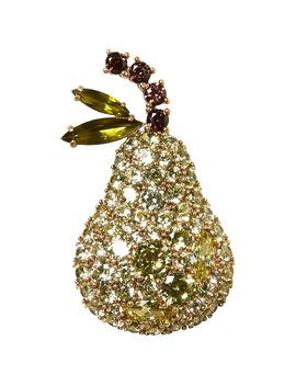 Pave Pear Brooch by Banana Repbulic