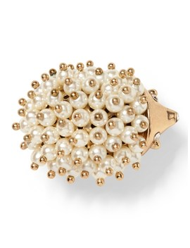 Hedgehog Pearl Brooch by Banana Repbulic
