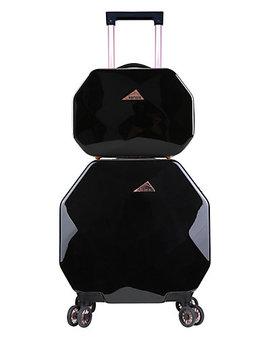 Kensie Gemstone Octagon 2pc Spinner And Cosmetic Case by Kensie