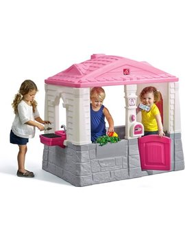 Step2 Neat And Tidy Cottage Playhouse, Pink by Step2