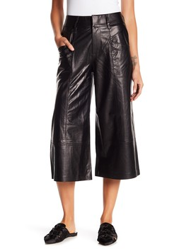 Leather Culotte Trousers by Frame Denim