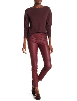 Mod Stretch Leather Leggings by Theory