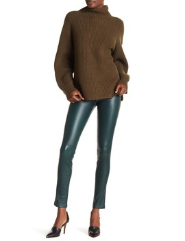 Bristol Leather Leggings by Theory