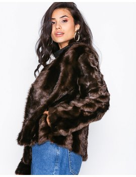 Shiny Fur Jacket by Nly Trend
