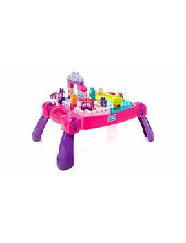 Mega Bloks Build 'N Learn Table, Pink by Mega Bloks