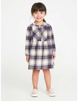 Plaid Flannel Shirt Dress For Toddler Girls by Old Navy