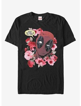 Marvel Deadpool Flowers T Shirt by Hot Topic