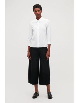 Raw Cut Rounded Wool Culottes by Cos