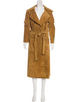 Le Duster Suede Coat by Frame