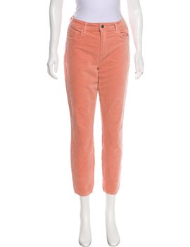 Margot Velvet Mid Rise Skinny Pants W/ Tags by L'agence