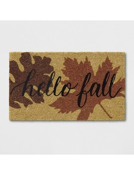"1'6""X2'6"" Leaf Tufted Doormat Orange Penny   Threshold™ by Threshold™"