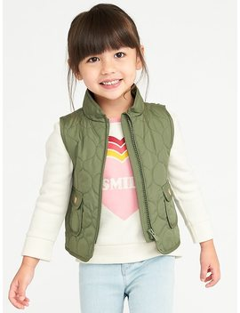 Quilted Vest For Toddler Girls by Old Navy