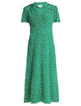 Morgan Flower Print Silk Dress by Hvn