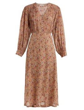 Blaise Floral Print Silk Midi Dress by Masscob