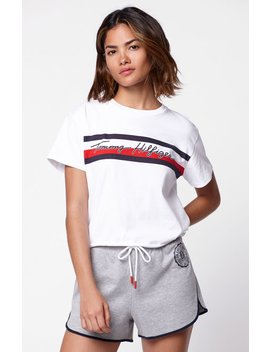 Cropped Flag T Shirt by Tommy Hilfiger
