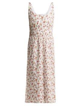 Giovanna Floral Print Cotton Midi Dress by Emilia Wickstead