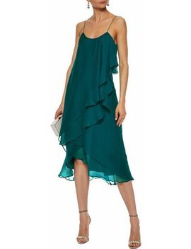 Layered Ruffled Silk Georgette Dress by Haute Hippie