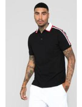 Andre Short Sleeve Polo   Black/White by Fashion Nova