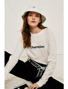 Champion Mono White Long Sleeve T Shirt by Champion