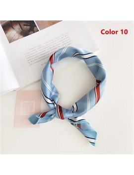 Popular Sale!!! New Elegant Women Square Silk Head Neck Feel Satin Scarf Skinny Retro  Hair Tie Band Small Fashion Square Scarf by Gootrades