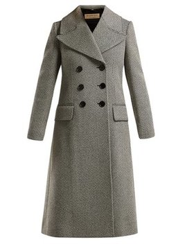 Aldemoor Wool Blend Twill Coat by Burberry