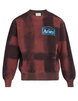 Tie Dye Cotton Fleece Sweatshirt by Aries