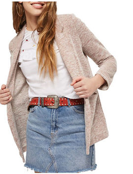 Boucle Jersey Jacket by Topshop