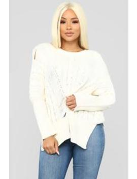 Need It In My Life Sweater   Ivory by Fashion Nova