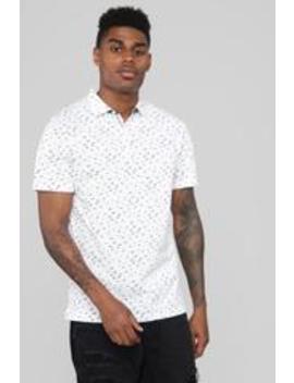 Tucker Short Sleeve Polo   White by Fashion Nova