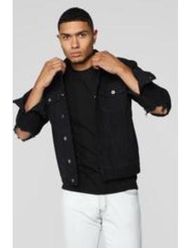 Richard Denim Jacket   Black by Fashion Nova
