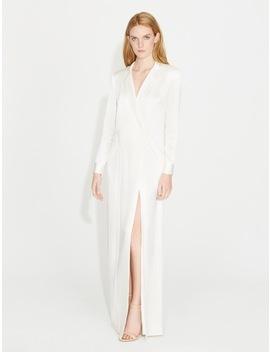 Satin Shirtdress Gown by Halston