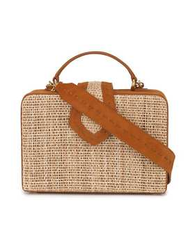 Mehry Mu Brown Fey Suede Rattan Box Bag Home Women Mehry Mu Bags Shoulder Bags by Mehry Mu