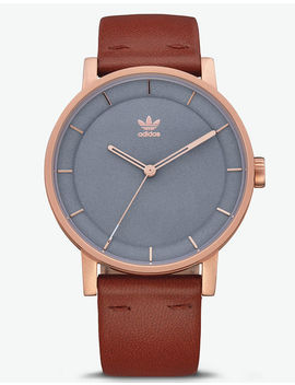 Adidas District L1 Rose Gold & Saddle Watch by Adidas