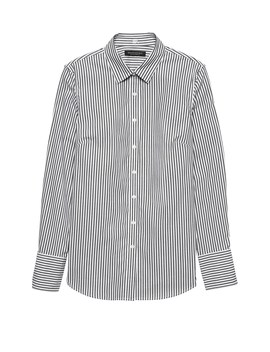 Riley Tailored Fit Stripe Super Stretch Shirt by Banana Repbulic
