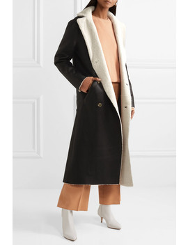 Reversible Double Breasted Shearling Coat by Utzon
