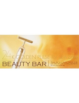 Beauty Bar 24k Golden Pulse Facial Massager Japan Import by Beauty Bar