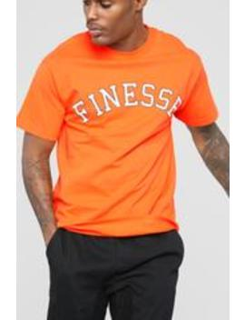 Finesse Short Sleeve Tee   Orange by Fashion Nova