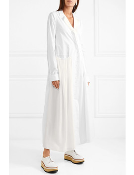 Cotton Poplin Coat by Jil Sander