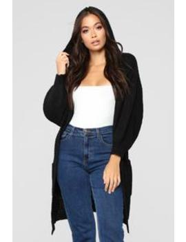 Too Close Cardigan   Black by Fashion Nova